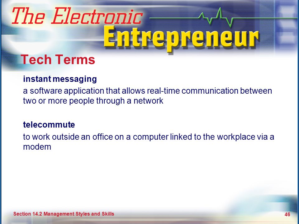 Tech Terms instant messaging