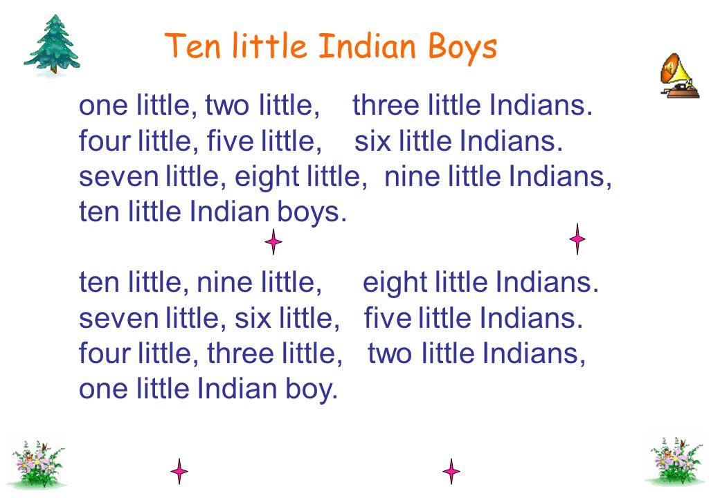 Ten little Indian Boys