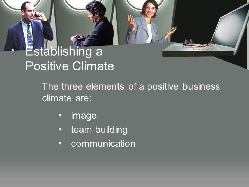 Establishing a Positive Climate