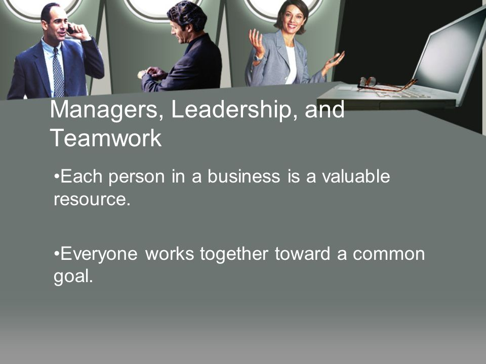 Managers, Leadership, and Teamwork