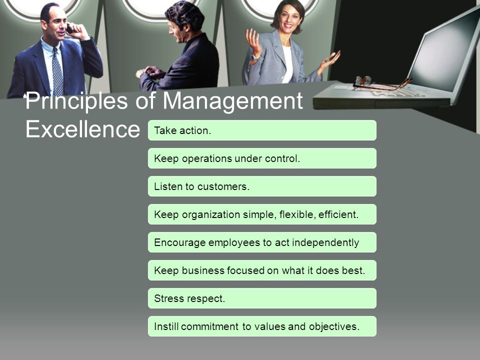 Principles of Management Excellence