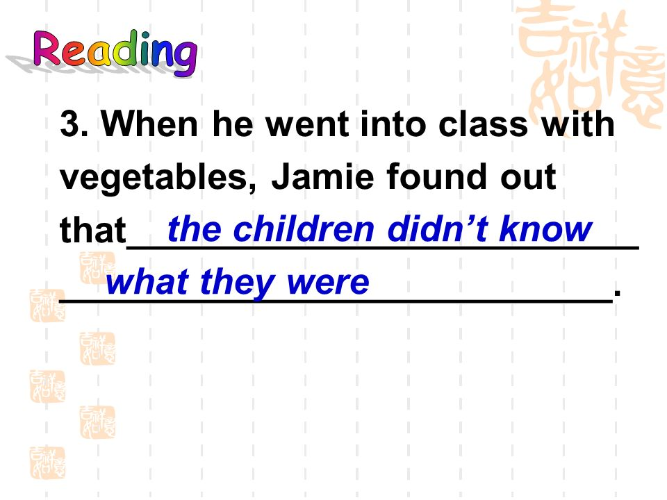 ___________________________. the children didn't know what they were