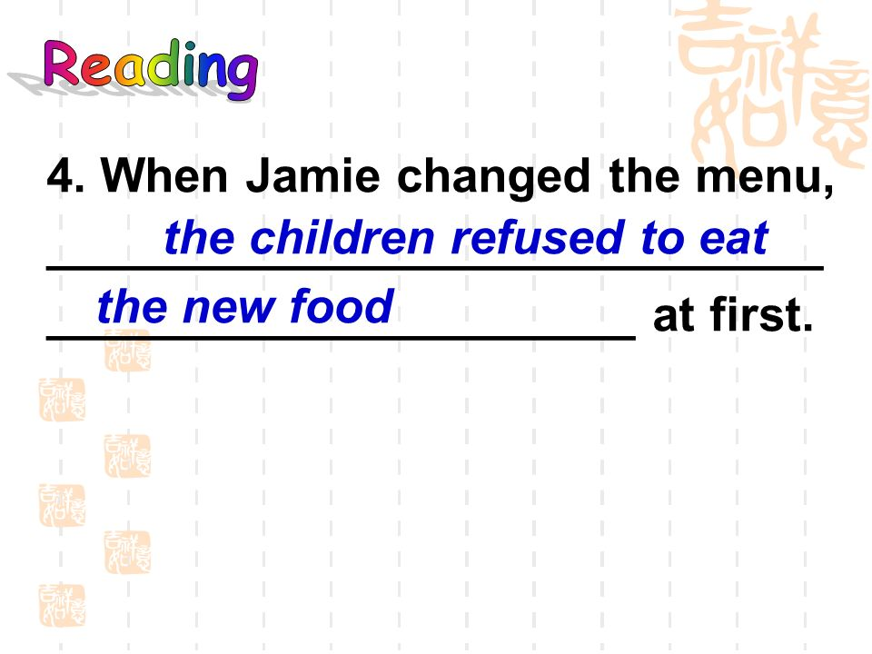 the children refused to eat the new food