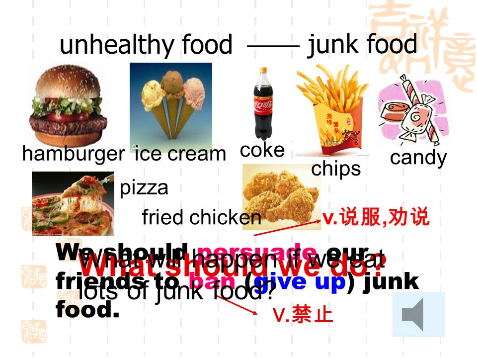 What should we do unhealthy food —— junk food