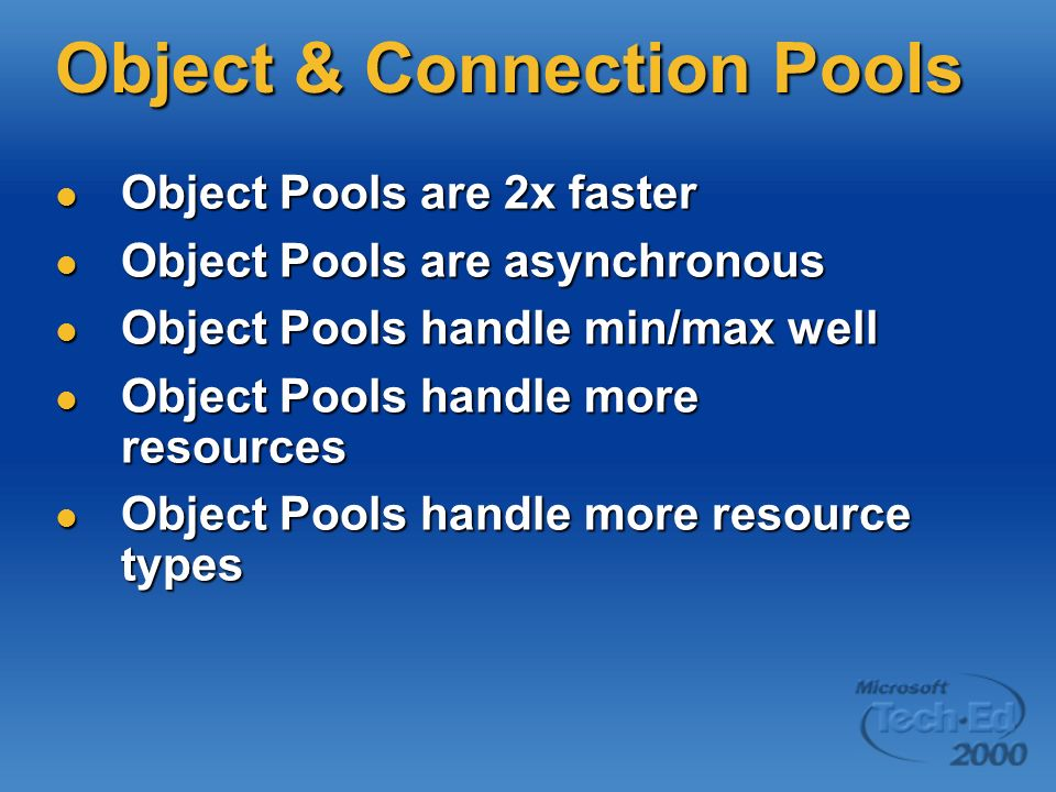 Object & Connection Pools