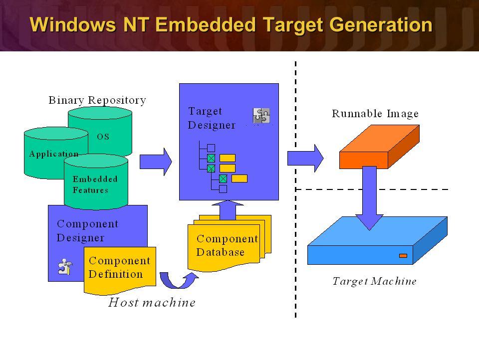 Windows NT Embedded Target Generation
