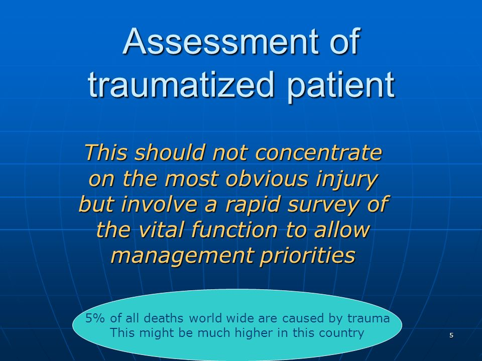 Assessment of traumatized patient