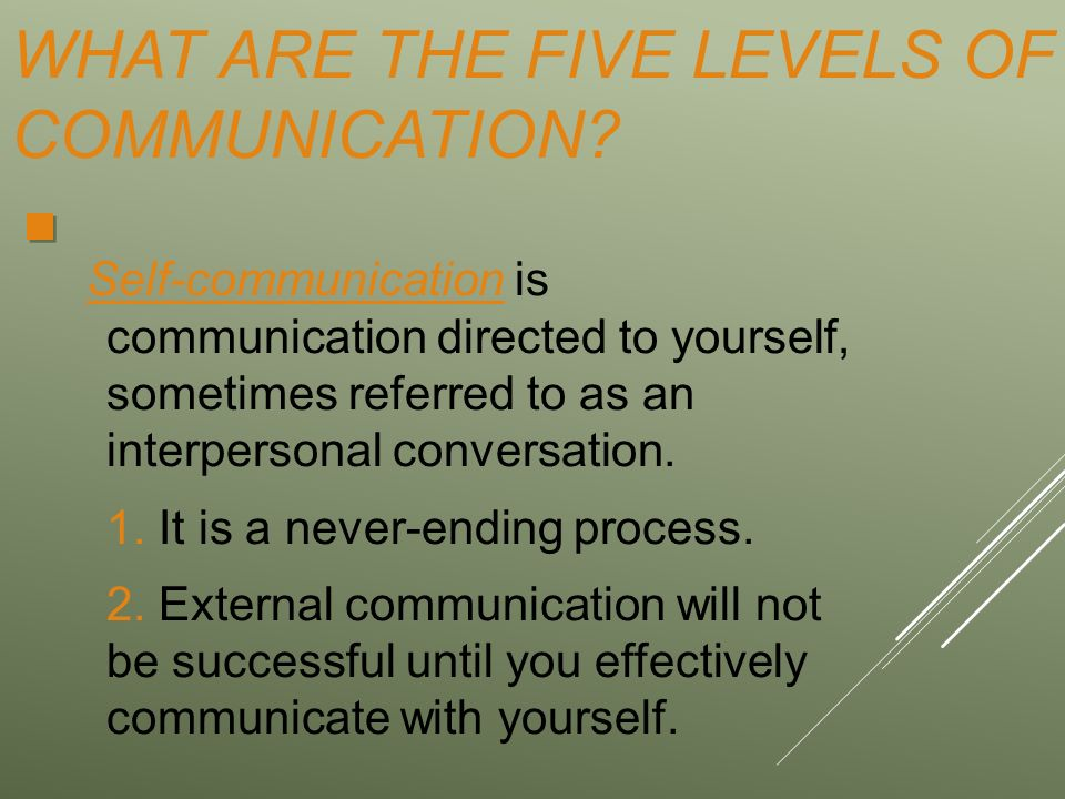 The Five Levels of Communication