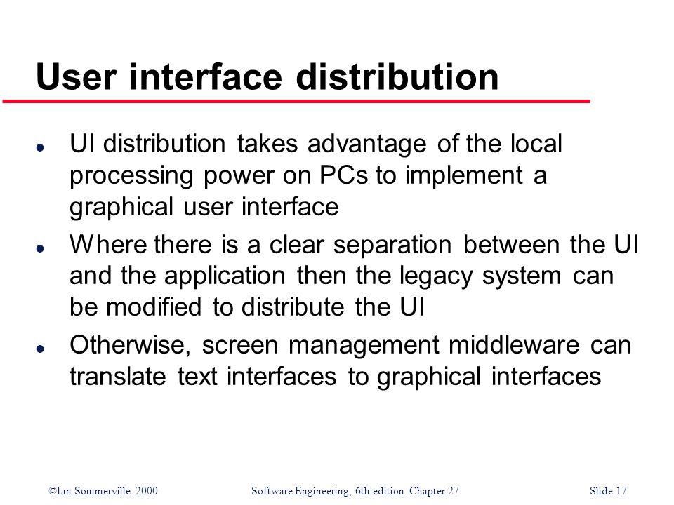 User interface distribution