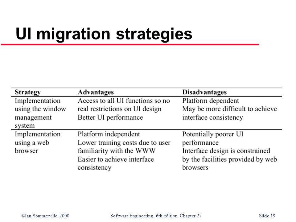 UI migration strategies