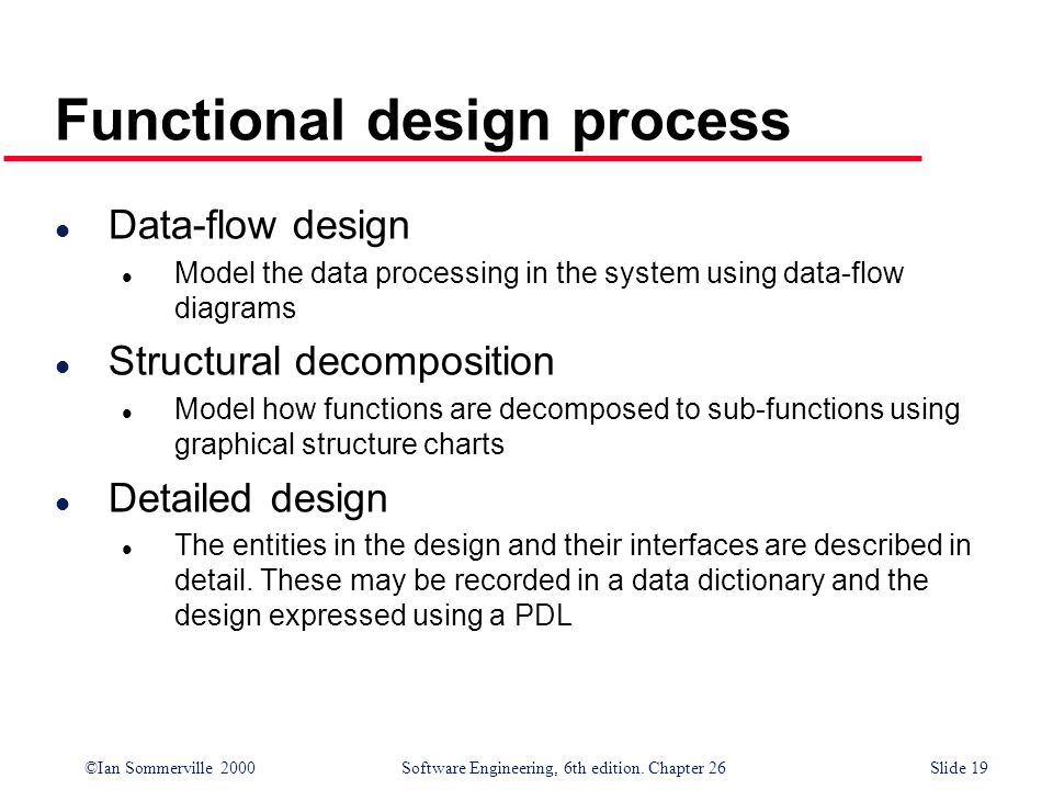 Functional design process