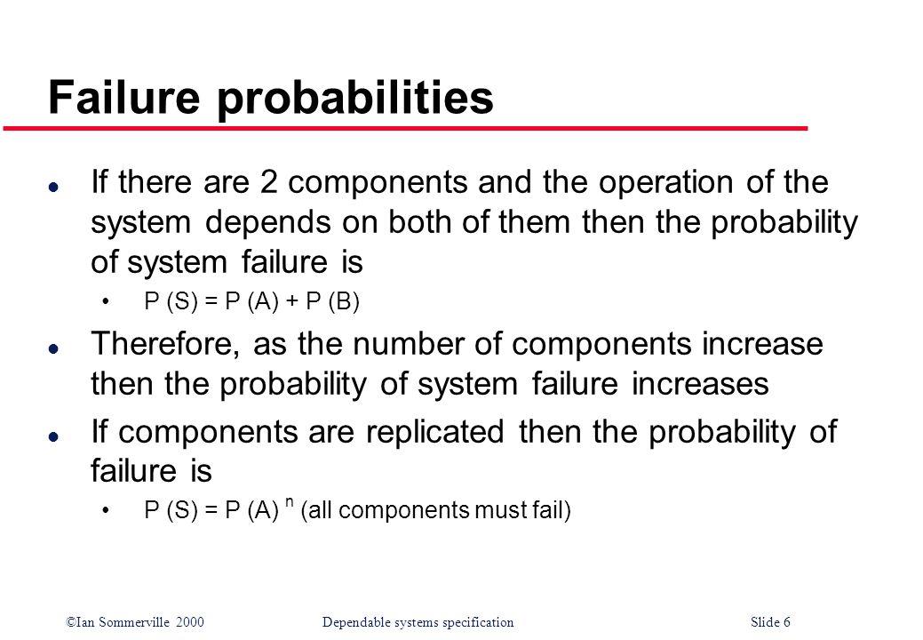Failure probabilities