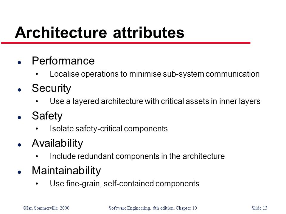 Architecture attributes