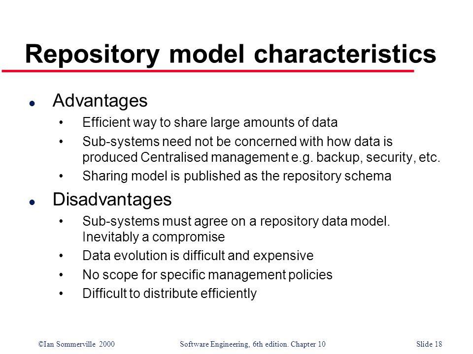 Repository model characteristics