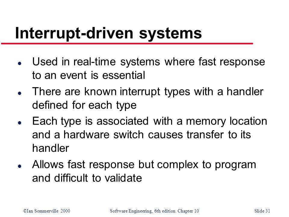 Interrupt-driven systems