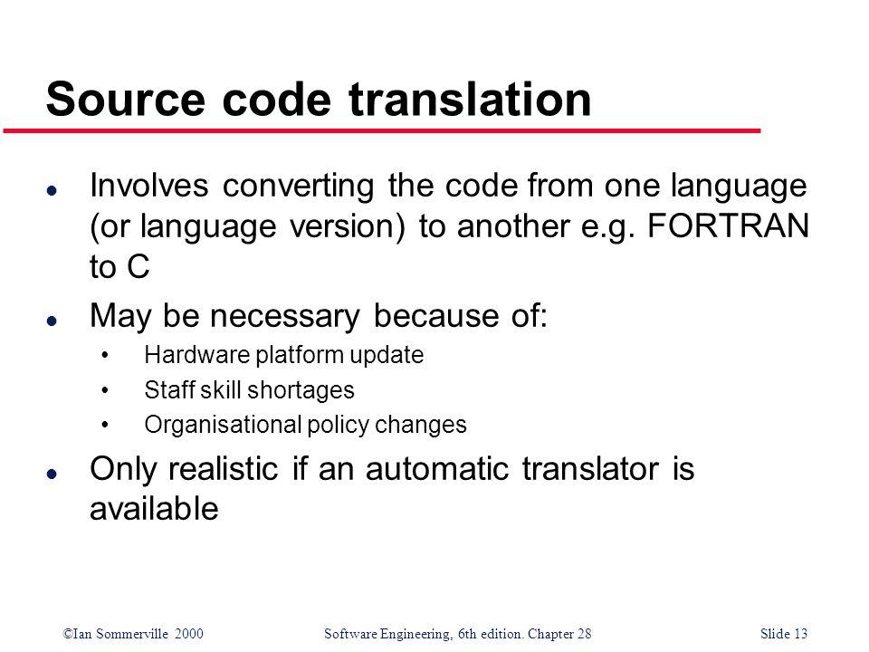 Source code translation