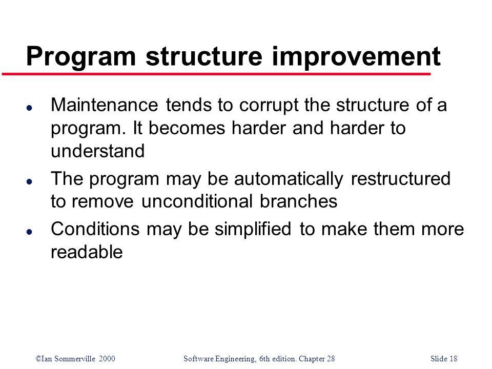 Program structure improvement