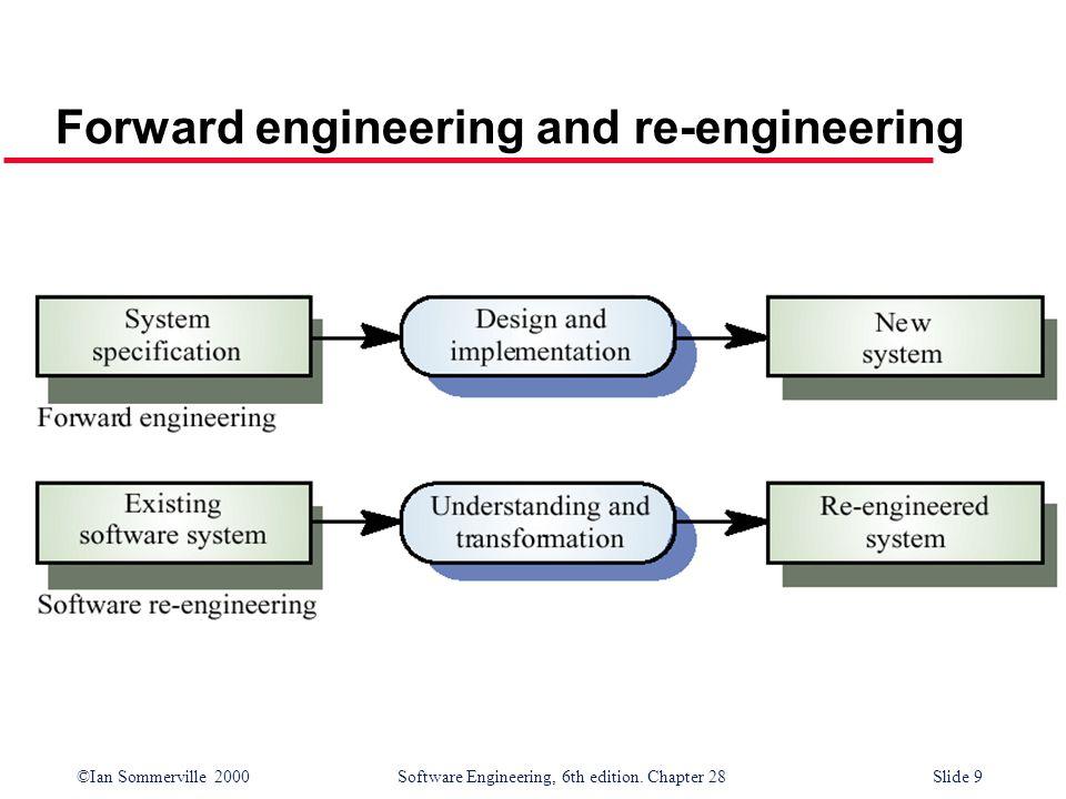 Forward engineering and re-engineering
