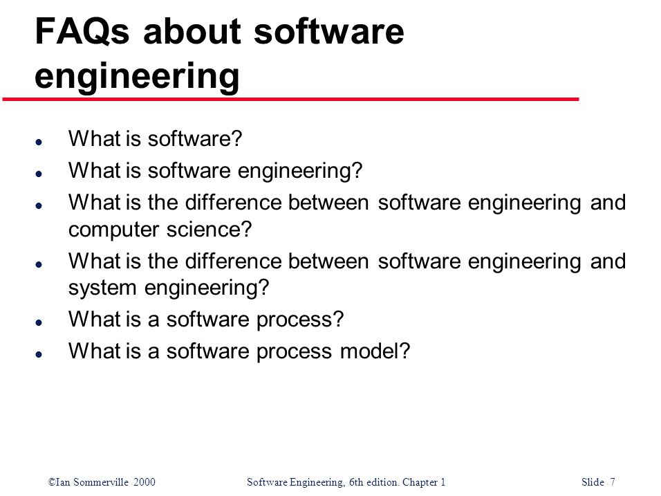 FAQs about software engineering