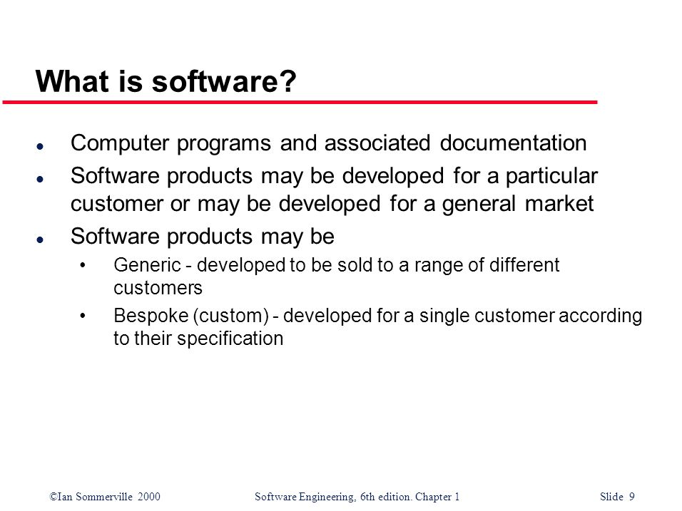 What is software Computer programs and associated documentation