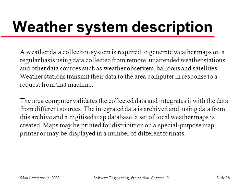 Weather system description