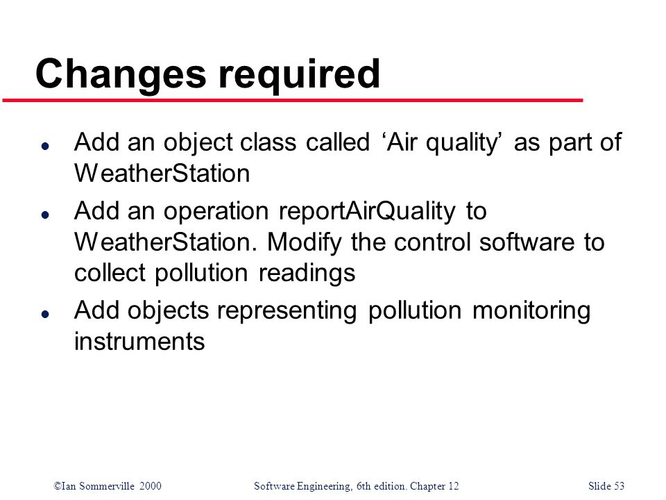 Changes required Add an object class called 'Air quality' as part of WeatherStation.