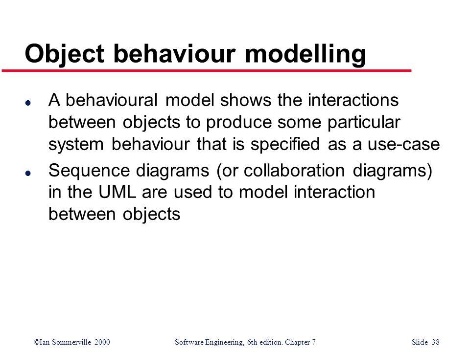 Object behaviour modelling
