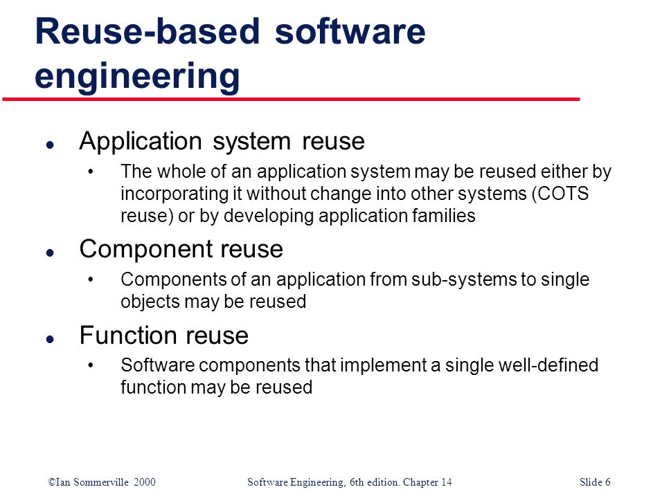 Reuse-based software engineering