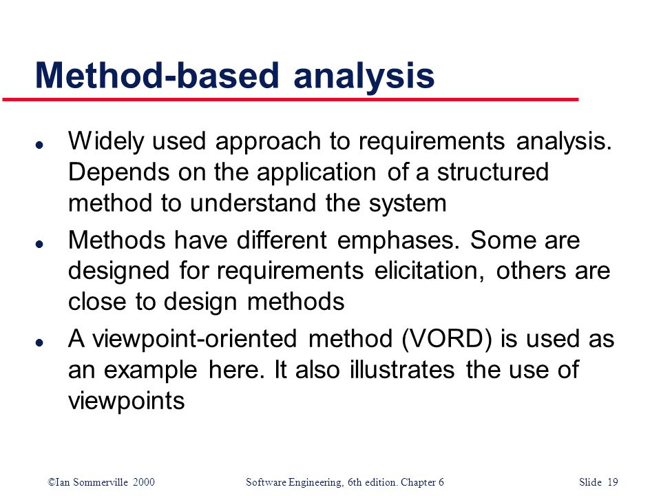 Method-based analysis
