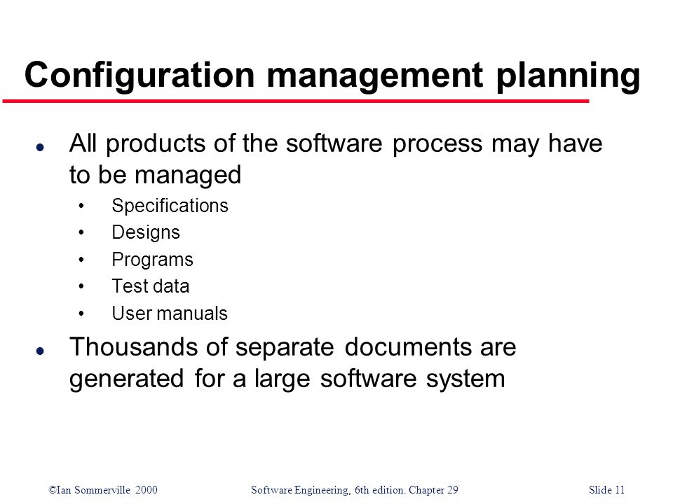 Configuration management planning