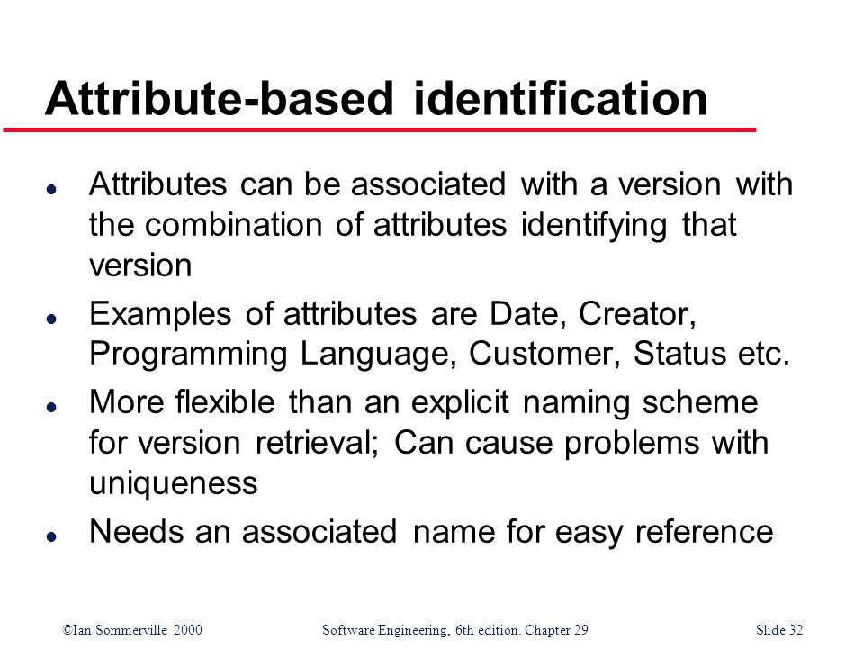Attribute-based identification