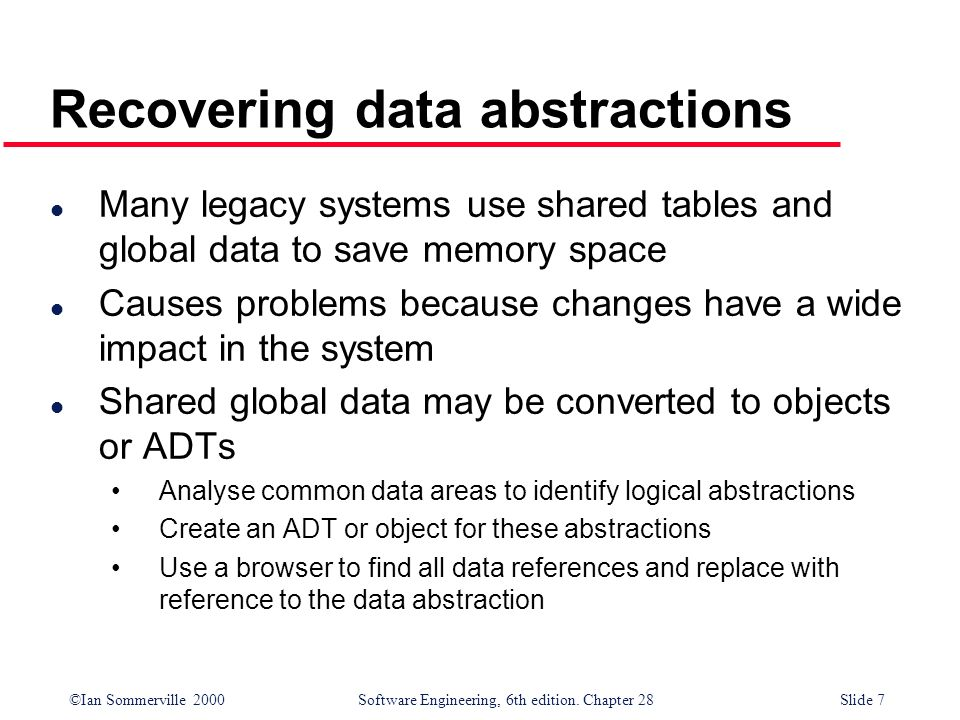 Recovering data abstractions
