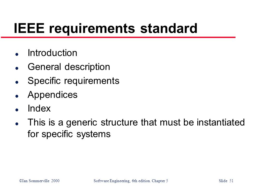 IEEE requirements standard