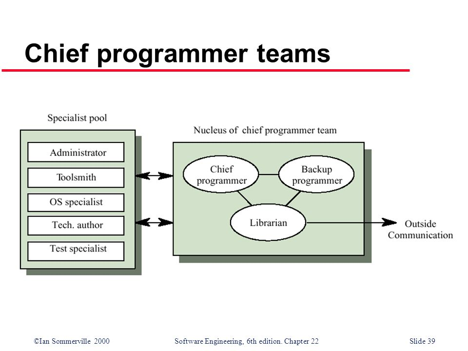 Chief programmer teams
