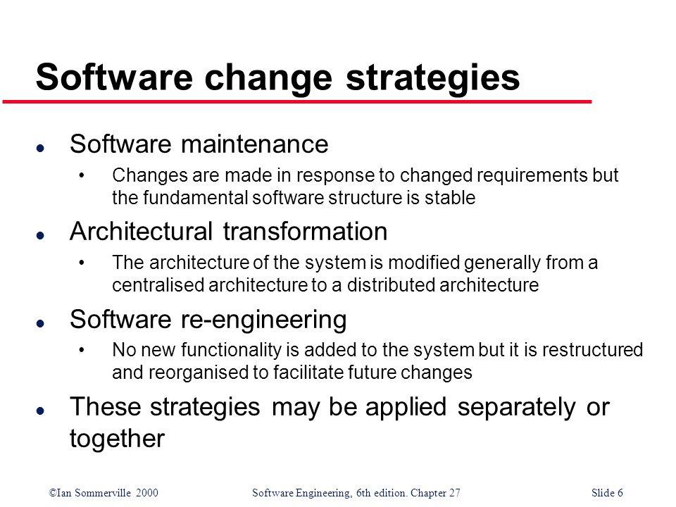 Software change strategies