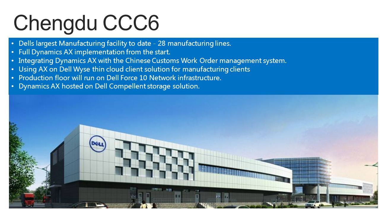 dell manufacturing systems Manufacturing finance global  everyday events because it enables data integration between dell's information systems and those of its service partners .