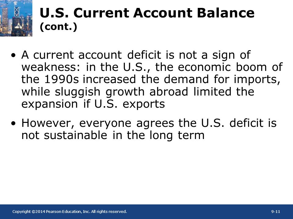 U.S. Current Account Balance (cont.)