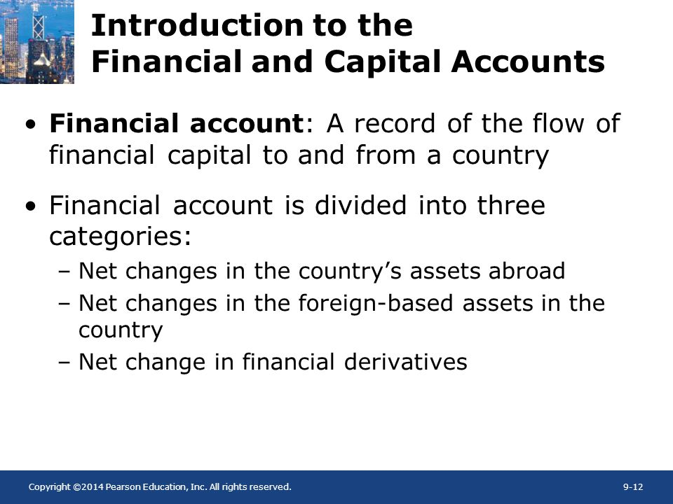 Introduction to the Financial and Capital Accounts