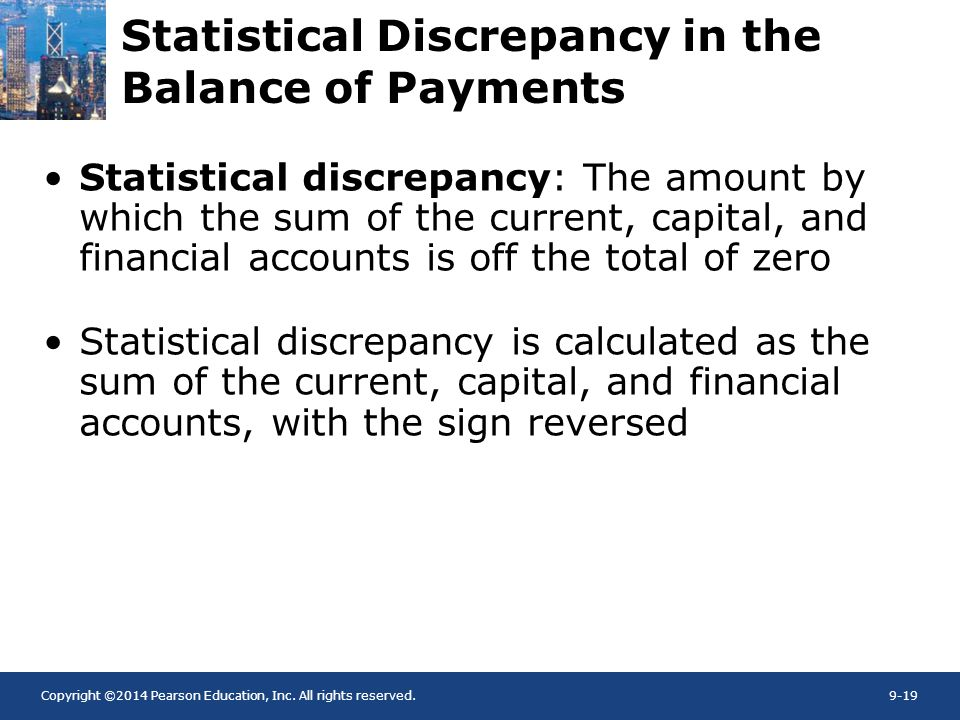Statistical Discrepancy in the Balance of Payments