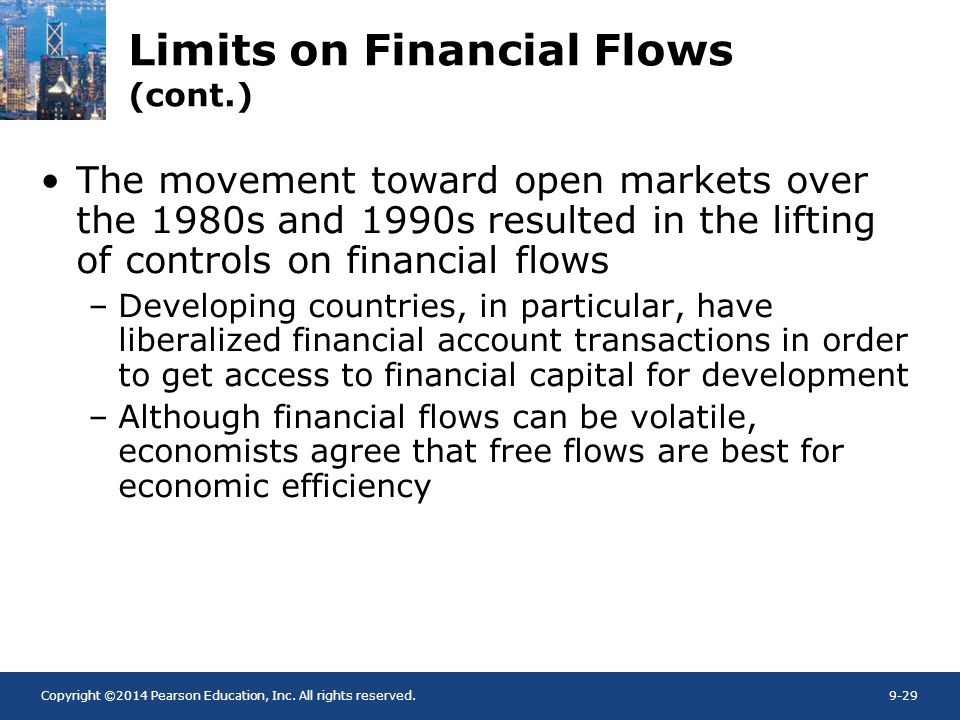 Limits on Financial Flows (cont.)