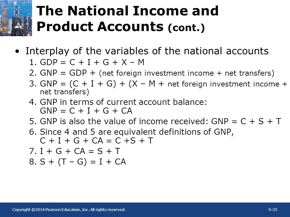 The National Income and Product Accounts (cont.)