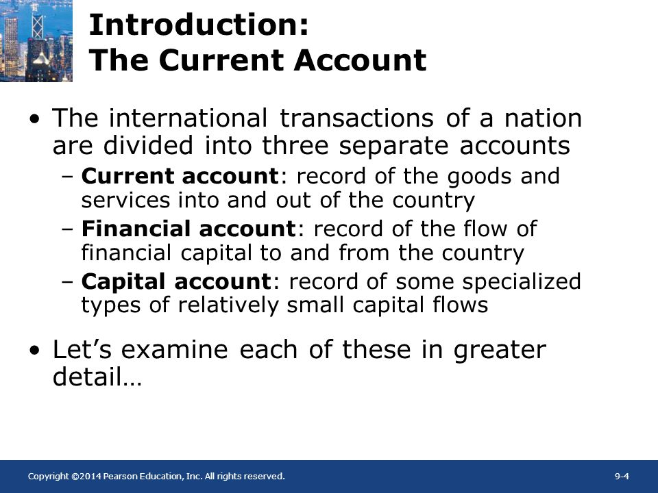 Introduction: The Current Account