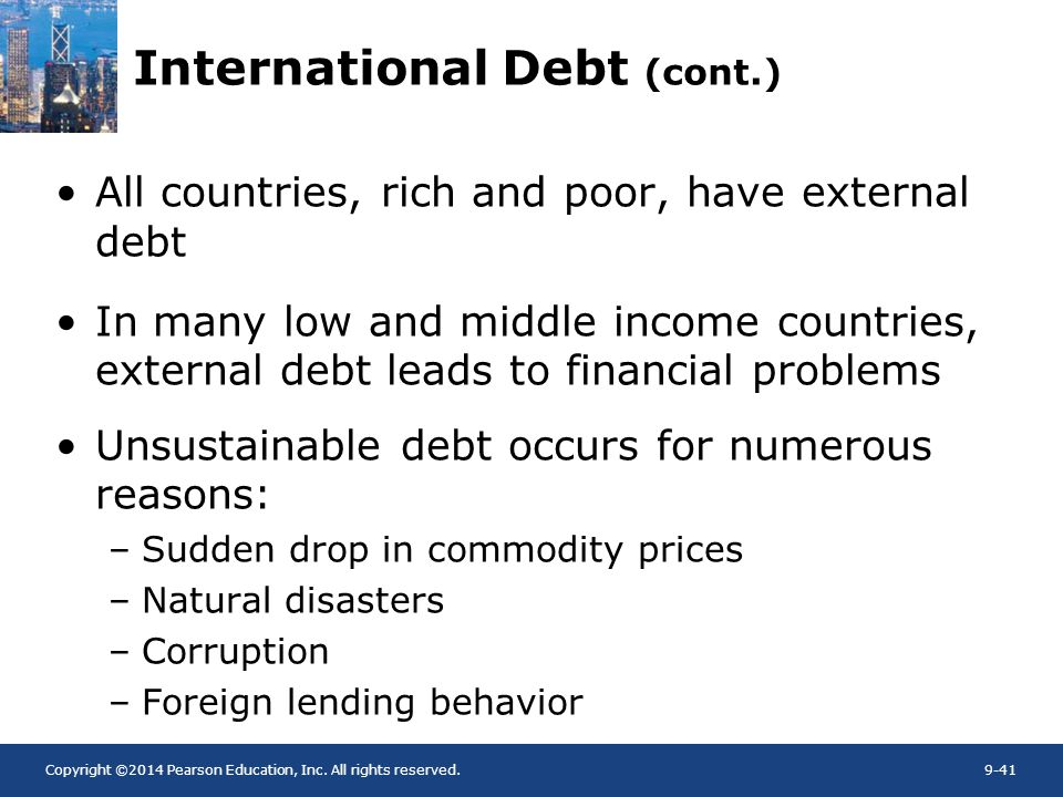 International Debt (cont.)