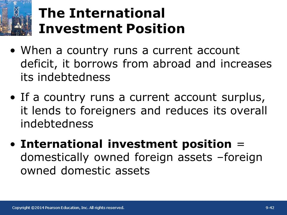 The International Investment Position