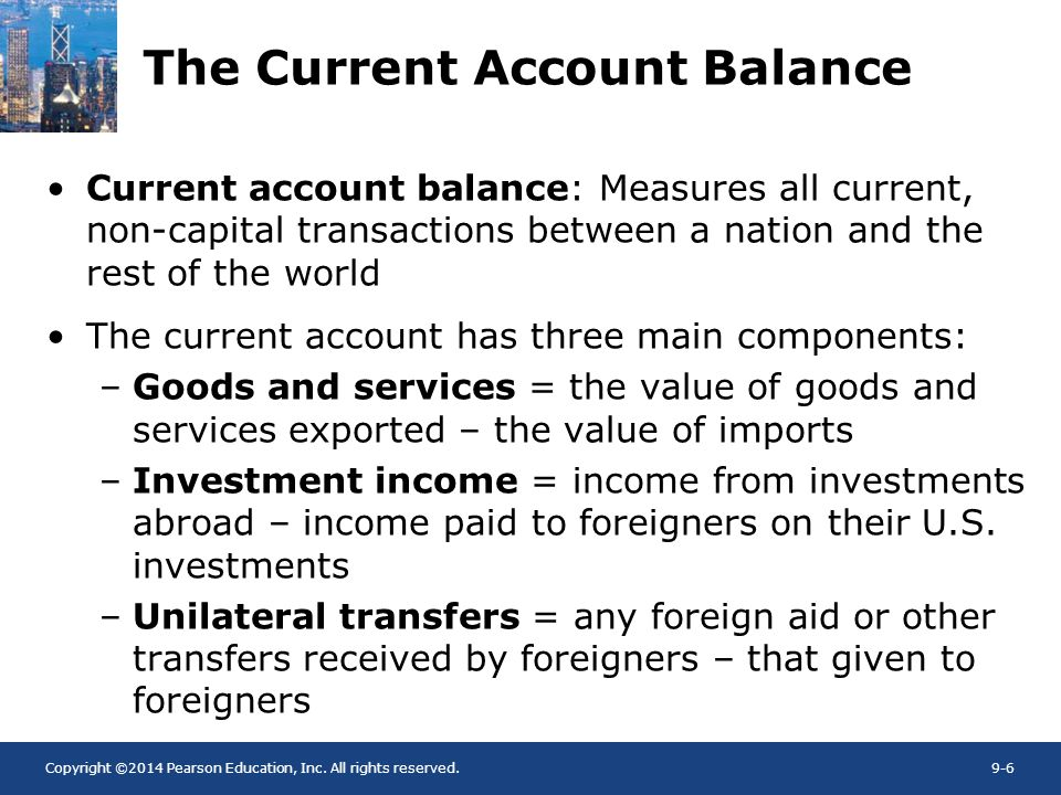 The Current Account Balance