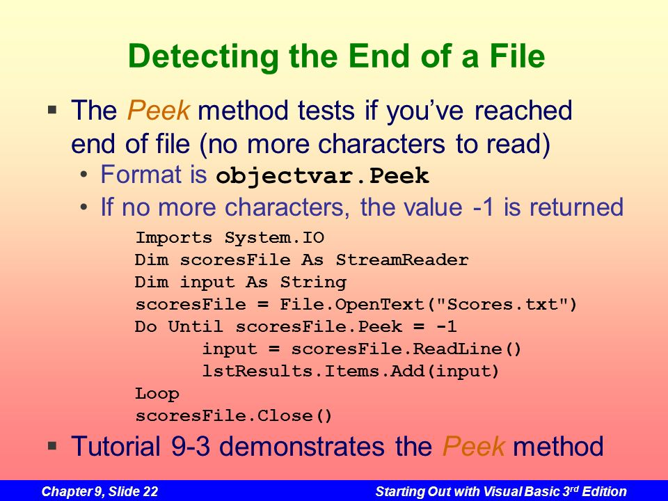 Detecting the End of a File