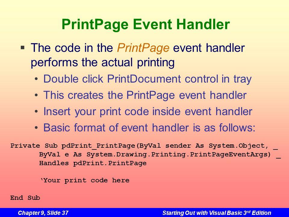 PrintPage Event Handler