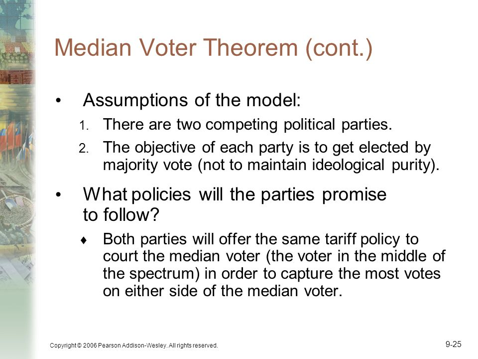 Median Voter Theorem (cont.)