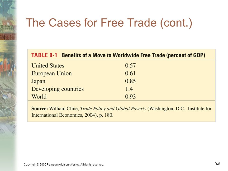 The Cases for Free Trade (cont.)