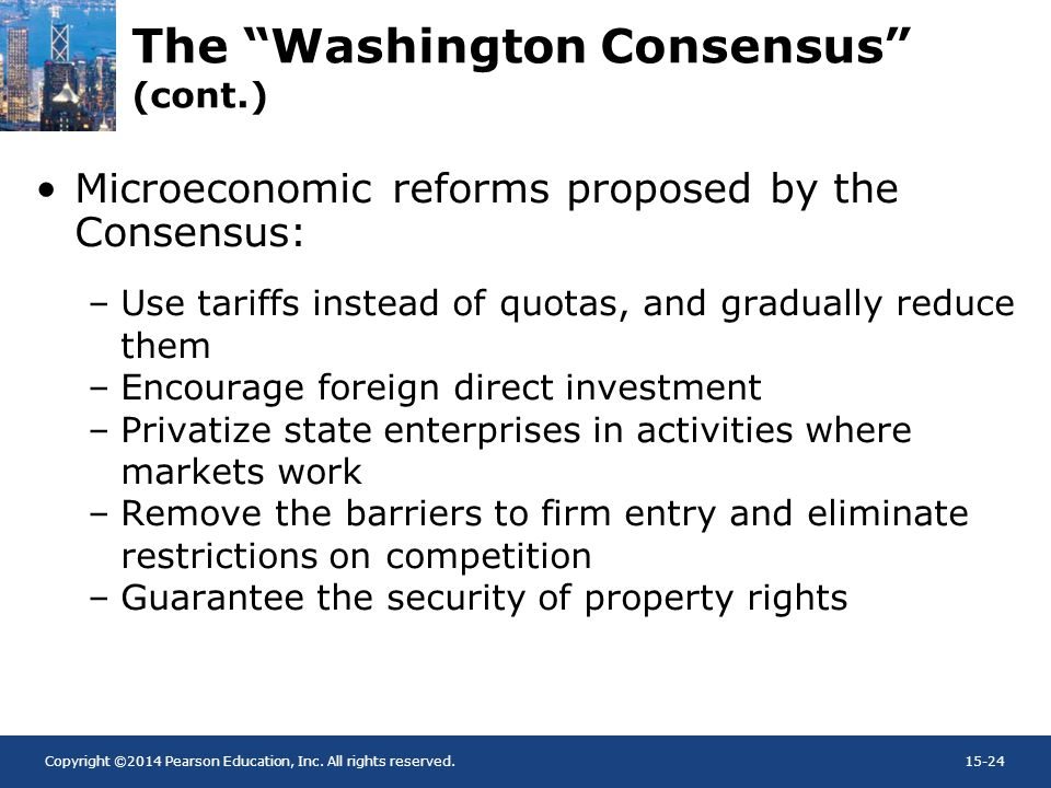 The Washington Consensus (cont.)